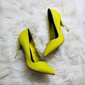 Neon Aldo Pointy Toe Heel